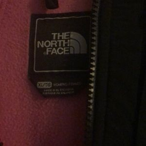 Pink and Black North Face